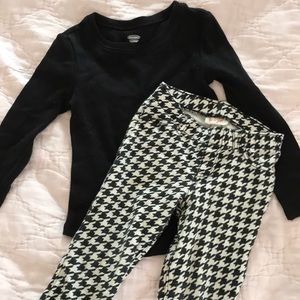 Old Navy Matching Sets - Cat & Jack black & white pants with black Old Navy